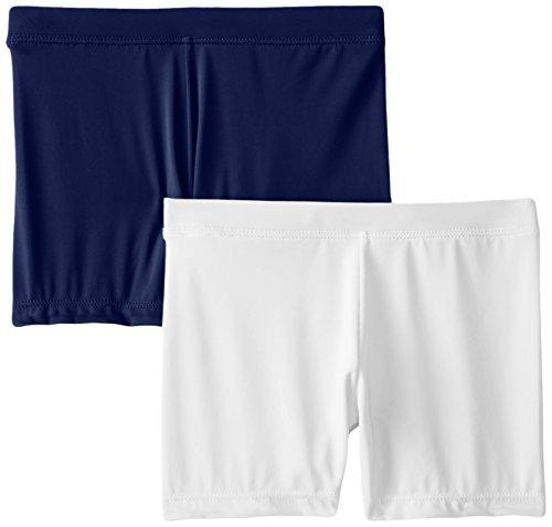 Playground Pals Girl's Slim 2 Pack Shorts, Navy/White, Small by Playground Pals