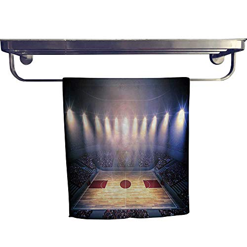 - Pool Gym Towels,Crowded Basketball Arena Just Before The Game Starts School Tournament Theme Image Beige,Good Ideal for The Kid's Room, a Guest Room W 8