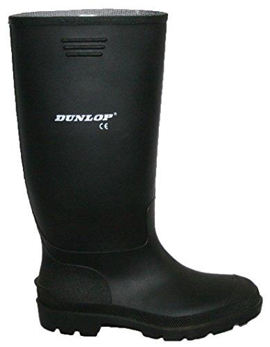 Dunlop–Botas de agua mujer, color negro y verde totalmente impermeable tamaño 3–8 negro