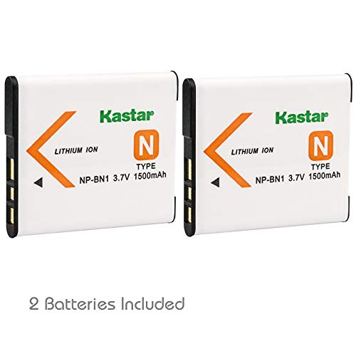 Kastar Battery (2-Pack) for NP-BN1, BC-CSN & Sony Cyber-Shot - Ion Battery 1 Lithium Np