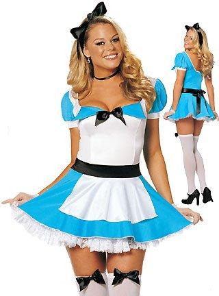 Alice in Wonderland Costume - Medium/Large - Dress Size 12-14 (Ladies Alice In Wonderland Costume)