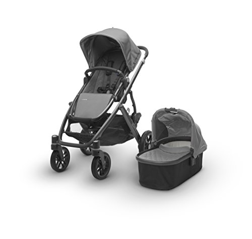 Uppa Baby 2017 Vista Stroller with Bassinet in Pascal Grey