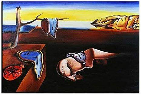 Jvmoebel Salvador Dali Peinture A L Huile Peinture Image Fait A La Main Tableau Toile Photos G02052 Amazon Fr Cuisine Maison