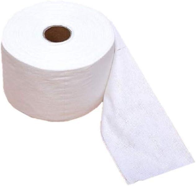 1 rollo de 140 hojas de toalla desechable para lavado/viaje/exterior/hogar/belleza/cuidado de la piel: Amazon.es: Belleza