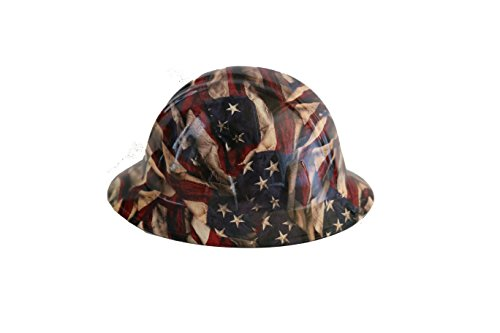 Full Graphics Hard Hat - Original Side by Side Hydro Dipped Hard Hat - American Flag