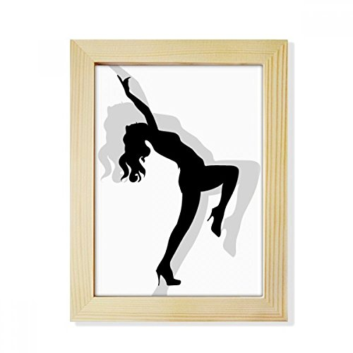 DIYthinker Dancing Hot Beautiful Woman Desktop Wooden Photo Frame Picture Art Painting 6x8 inch by DIYthinker