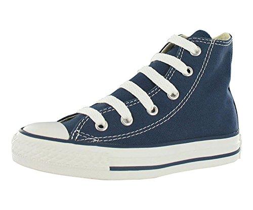 Converse Kids' Chuck Taylor All Star Canvas High Top Sneaker, Navy, 2.5 M US Little Kid (Canvas Sneaker Hi)