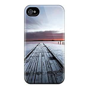 Case Cover Old Wooden Pier On A Lake At Sundown/ Fashionable Case For Iphone 4/4s