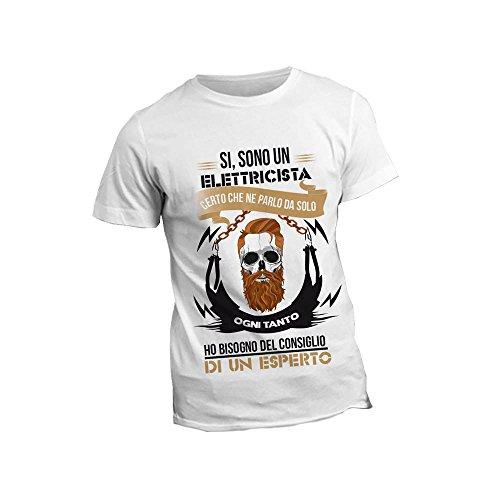 """T-Shirt per il tuo Lavoro Maglietta Bianca Personalizzata per """"Elettricisti"""""""