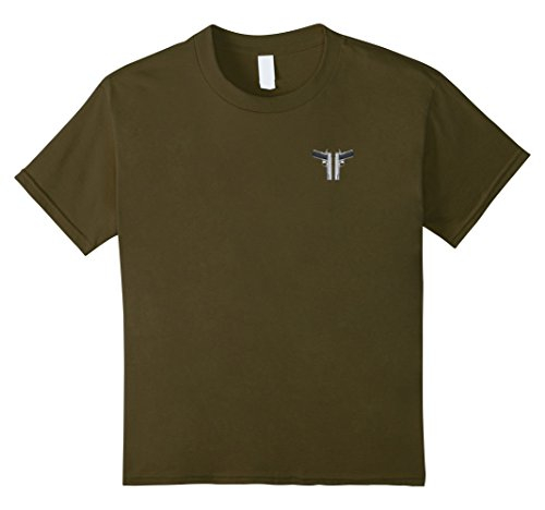 Kids In Case of Emergency Dial 1911 Front and Back T-Shirt 4 Olive