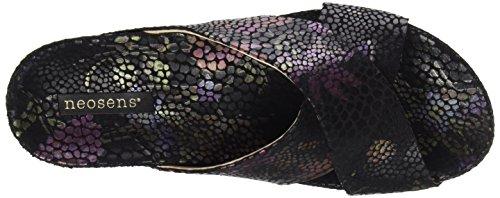 Lairen Black Platform Black Neosens Black Floral Flat Women's Sandals Black Floral S950 Floral Fantasy 8UxqOxI