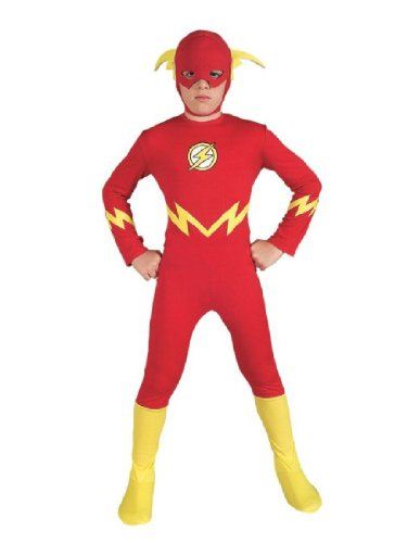 Girl Flash Costumes (Justice League The Flash Child Costume Size: Large)