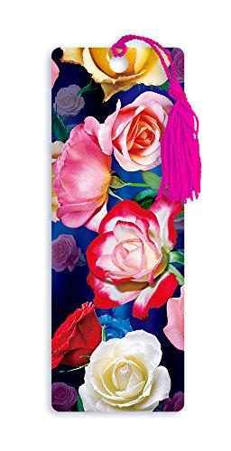 Dimension 9 3D Lenticular Bookmark with Tassel, Roses (LBM011)]()