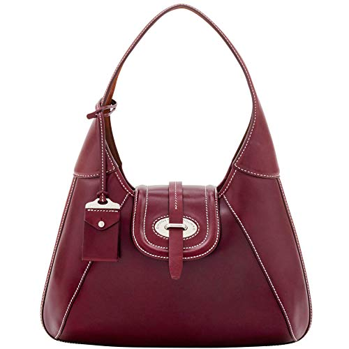 Stitch Shoulder Front Bourke amp; Toscana Bordeaux Dooney Bag Hobo Florentine n4X6qn0