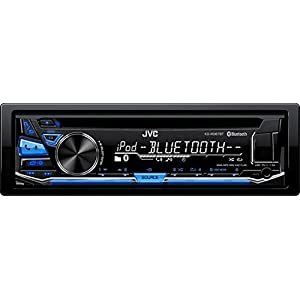 JVC KD-RD87BT CD/MP3 Car Stereo USB AUX AM/FM Radio iPod/iPhone/Android Receiver with Built in Bluetooth and Hands Free Calling and Audio Streaming iHeartRadio with Detachable Face & Remote Control