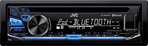 JVC KD-RD87BT CD/MP3 Car Stereo USB AUX AM/FM Radio iPod/iPhone/Android Receiver with Built in Bluetooth and Hands Free Calling and Audio Streaming iHeartRadio with Detachable Face & Remote Control (4 Pin Din Auto)