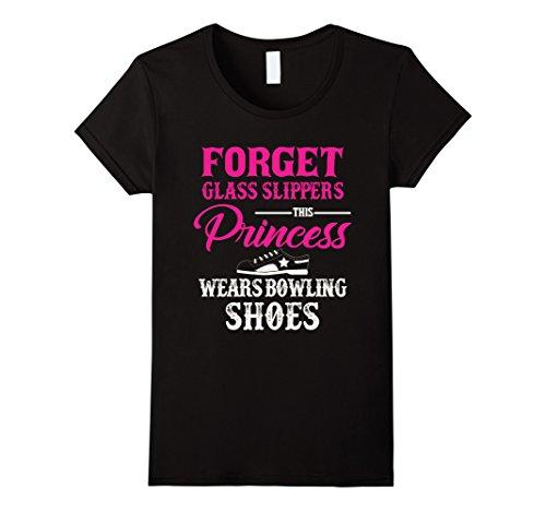 Womens This Princess Wears Ten-Pin Bowling Shoes t-shirt XL Black (Ten Pin Bowling Shirts)