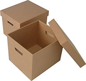 10 LARGE ARCHIVE STORAGE CARDBOARD BOXES WITH LID: Amazon.co.uk ...