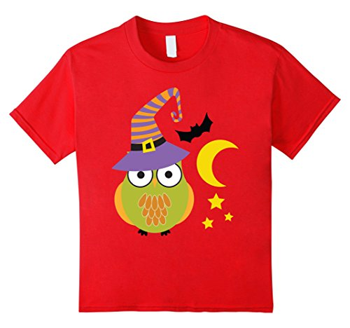 Kids Cute Unique & Easy Last Minute Owl Halloween Costume T-Shirt 8 Red (Easy Last Minute Halloween Costumes For Boys)