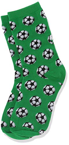 - Hot Sox Boys' Big Sports Series Novelty Casual Crew Socks, Soccer (Green), Medium/Large Youth