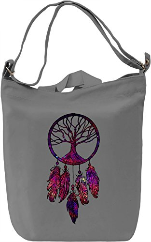 Galaxy Dream Catcher Borsa Giornaliera Canvas Canvas Day Bag| 100% Premium Cotton Canvas| DTG Printing|