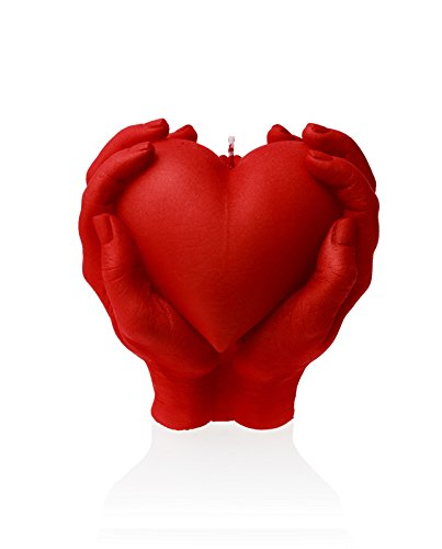 Candellana Candles 5902815462491 Holding Heart Candle Red