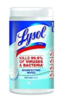 Lysol Disinfecting Surface Wipes, Crisp Linen, 80 Count