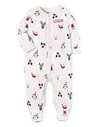 Carter's Baby Boys' Santa Thermal Snap Up Sleep And Play