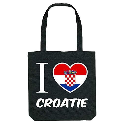 Coton My Tote la Gs Jaime fond noir Noir kase croatie qtZnZxv