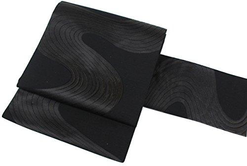 旋律的迫害脊椎帯 喪服用 黒共 正絹 VKO-2 名古屋帯 お仕立て上がり