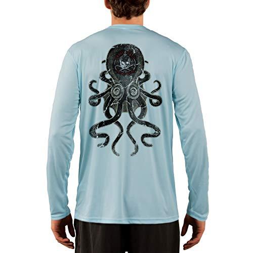 SAND.SALT.SURF.SUN. Vintage Kraken Men's UPF 50+ Long Sleeve T-Shirt Medium Arctic Blue