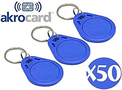 PACK 50 LLAVEROS DE PROXIMIDAD - Color Azul - 125kHz RFID: Amazon ...