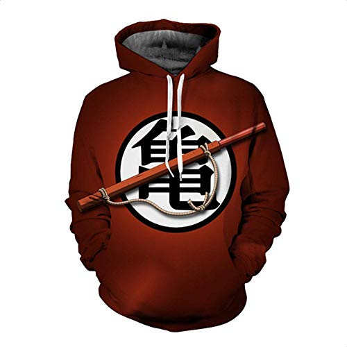 Amazon.com: HOOSHIRT Animation Dragon Ball Hoodie Sweatshirts Men Hooded Sweatshirts 3D Ho: Clothing