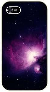 iPhone 4 / 4s Pink nebula - black plastic case / Space, Stars, Fantasy