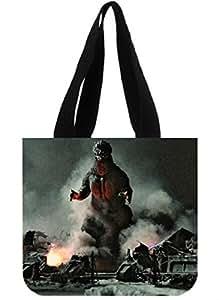 kbtroog Shopping Bag Godzilla Two Sides Custom Cotton Canvas Cool Shopping Tote Bag Fashionable Shopping