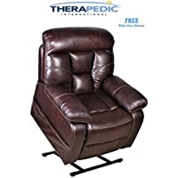 THERAPEDIC Lift Chair Recliner, The Cabowith Gorgeous Contrast Stitching, White Glove Delivery is Included.