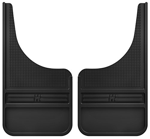 (Husky Liners Rubber Front Mud Flaps - 12IN w/o Weight)