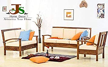 Js Home Decor Solid Rosewood Sheesham Wood 3 2 1 Seater Sofa Set