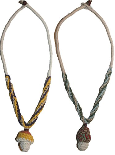 12 HN Agan Traders Hemp Flower Pendant Necklace (Multi Color X (Handcrafted Hemp Necklace)