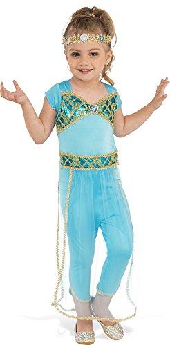 Blue Harem Girl Costume (Rubies Costume Child's Genie Princess Costume, Medium, Multicolor)