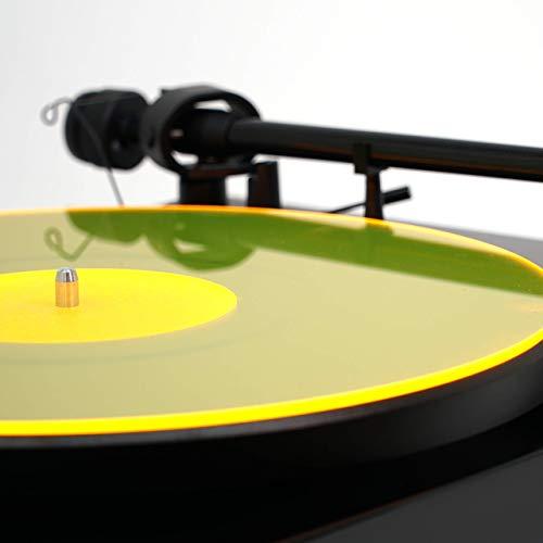 Acrylic Turntable Mat | YellowLit | LP Slipmat (Minimal Record Player)