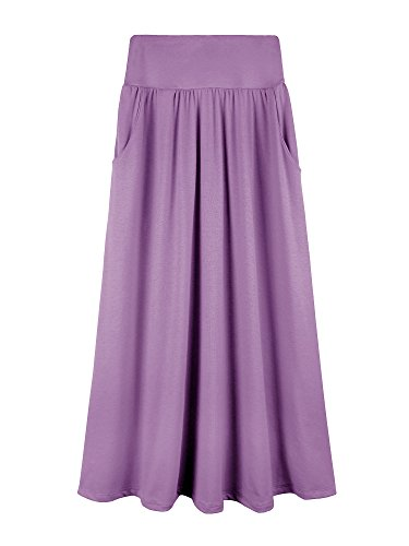 Bello Giovane Girls 1-3 Pack 7-16 Years Solid Maxi Skirt with Side Pockets (S-XL)