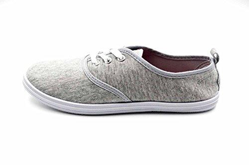 Scarpe Di Tela Charles Albert Womens Sneakers Stringate Grigie