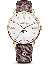 Women's Eliros Moonphase 35mm Watch | Gold/Brown Leather