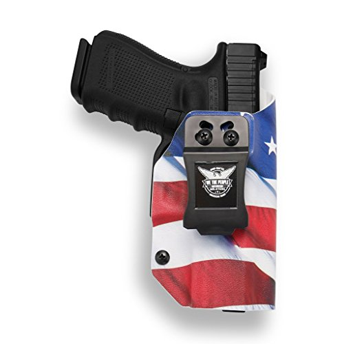 rs - Glock 19 23 32 Compatible IWB Kydex Holster for Concealed Carry (Right Hand, American Flag) ()