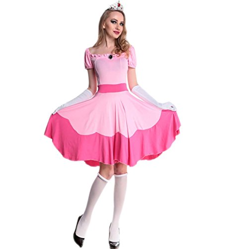 Papaya Wear Princess Fairy Tale Women Adult Halloween Costume Cosplay M (Pink Dress Costumes)