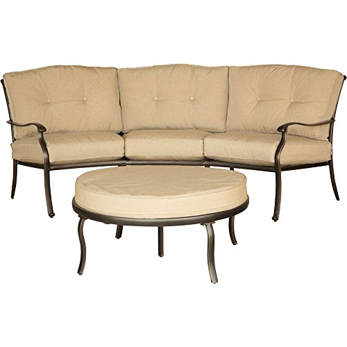 Hanover Traditions 2-Piece Seating Set Natural Oat TRADITIONS2PC