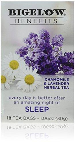 Bigelow Benefits Sleep Chamomile & Lavender Herbal Tea 18 Tea Bags