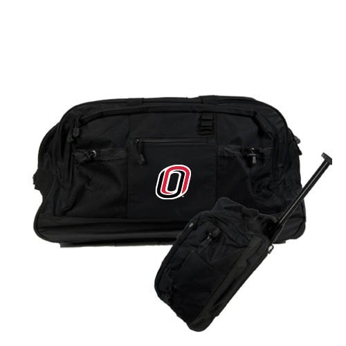 Nebraska Omaha Urban Passage Wheeled Black Duffel O