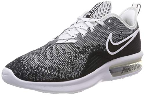 Nike Men's Air Max Sequent 4 Running Shoe Black/White Size 13 M US
